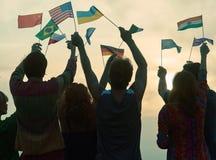 Zawody międzynarodowi protesta wiec obrazy stock