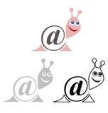 Zawody międzynarodowi szyldowy email, zwierzę ślimaczek Obraz Stock