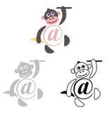 Zawody międzynarodowi szyldowy email, zwierzę małpa Fotografia Stock