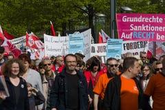 Zawody międzynarodowi Workers&-x27; Dzień 1 2016 Maj, Berlin, Niemcy Fotografia Royalty Free