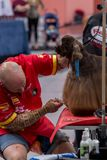 Zawody międzynarodowi psia kosmetyczna rywalizacja w Sant Antoni de Calonge w Hiszpania, 19 05 2018, Hiszpania Fotografia Stock