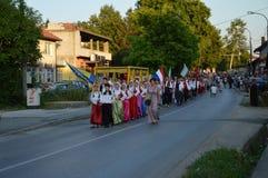 10 zawody międzynarodowi folkloru festiwal Lukavac 2016 Zdjęcie Royalty Free