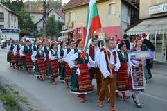 10 zawody międzynarodowi folkloru festiwal Lukavac 2016 Obrazy Stock