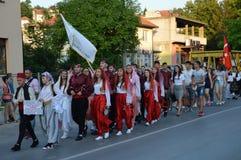 10 zawody międzynarodowi folkloru festiwal Lukavac 2016 Obraz Royalty Free