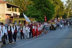 10 zawody międzynarodowi folkloru festiwal Lukavac 2016 Fotografia Royalty Free