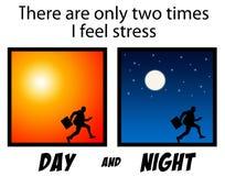 Zawsze stres ilustracji