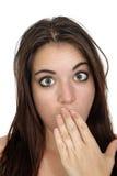 zawtydzająca (1) atrakcyjna brunetka Zdjęcia Royalty Free
