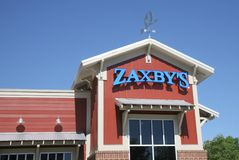 Zaxby`s Restaurant Sign Royalty Free Stock Images