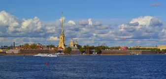 Zayachy. Fall on Hare Island in St. Petersburg Stock Photography