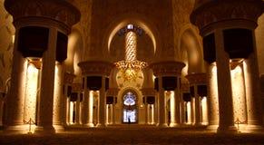 zayed шейх мечети Стоковое Изображение