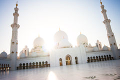 zayed шейх мечети Abu Dhabi грандиозный Стоковое Фото