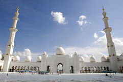 zayed шейх мечети Abu Dhabi Стоковое фото RF