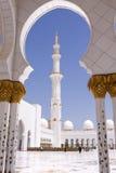 Μουσουλμανικό τέμενος Zayed σουλτάνων Στοκ Εικόνες