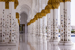 Μουσουλμανικό τέμενος Zayed σουλτάνων Στοκ Εικόνα