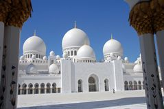 zayed Abu Dhabi östlig medelmoskésheikh uae Fotografering för Bildbyråer