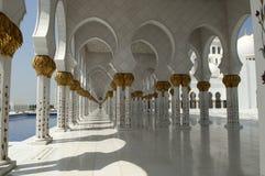 zayed Abu Dhabi moské Arkivfoton