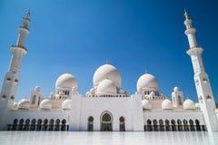 zayed Abu Dhabi moskésheikh Royaltyfri Bild
