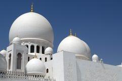 zayed Abu Dhabi moskésheikh Royaltyfri Fotografi