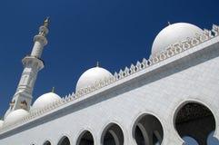 zayed Abu Dhabi moskésheikh Arkivfoton