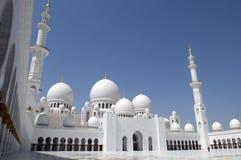 zayed Abu Dhabi moskésheikh Arkivfoto