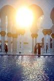 zayed Abu Dhabi moskésheikh Royaltyfria Foton