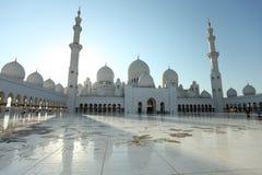zayed Abu Dhabi moskésheikh Royaltyfria Bilder