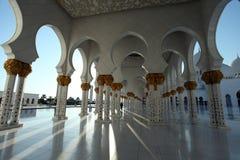 zayed Abu Dhabi moskésheikh Fotografering för Bildbyråer