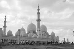 zayed Abu Dhabi moskésheikh Arkivbild