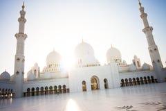 zayed Abu Dhabi storslagen moskésheikh Arkivfoto