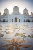 zayed Abu Dhabi storslagen moskésheikh Royaltyfria Foton