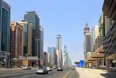 zayed dubai vägsheikh Royaltyfria Bilder