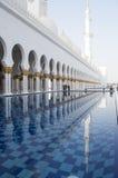 zayed emiratesmoskéshaikh Royaltyfri Fotografi