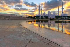 Zayed großartige Moschee Abu Dhabi uae Stockfotos