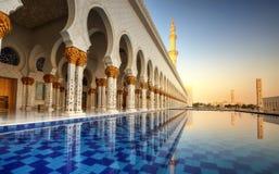 zayed moskésheikh royaltyfria foton