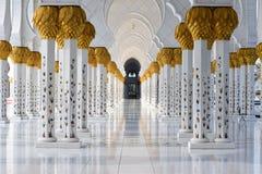 zayed moskésheikh Arkivbild