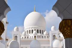 zayed moskésheikh Arkivfoto