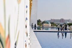 zayed moskésheikh Arkivfoton
