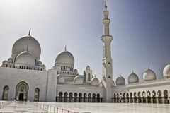zayed Mosque回教族长入口  免版税库存照片