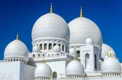 zayed Mosque回教族长在阿布扎比 库存图片
