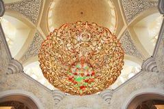 zayed Mosque回教族长的装饰。 阿布扎比 免版税图库摄影