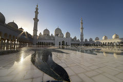 Zayed Mosque in Abu-dabi Stockbilder
