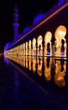 Zayed Mosque in Abu dabi. In Decembr royalty free stock images