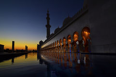 Zayed Mosque in Abu dabi. In Decembr Royalty Free Stock Photos