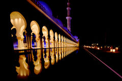 Zayed Mosque in Abu dabi. In Decembr stock photos