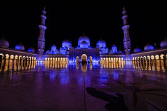 Zayed Mosque in Abu-dabi in Decembr Stockbild