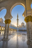 Zayed Mosque in Abu dabi. In Decembr Royalty Free Stock Photography