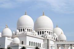 zayed shaikh för kupolmoské s Arkivfoton