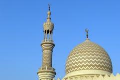 zayed sheikh för ras för moské för aldubai khaimah Arkivfoton