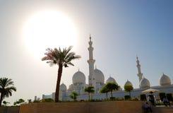 zayed sheikh uroczysty meczetowy zmierzch obraz royalty free