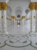 Zayed Zayed Mosque Abu Dhabi Stock Image